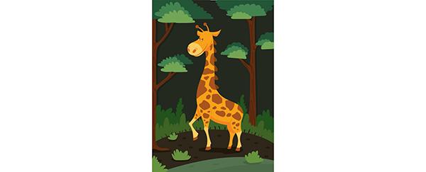 La girafe multicolore