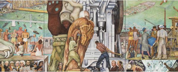 Déménagement spectaculaire pour une fresque monumentale